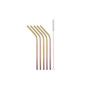 Strawganic 102112 reusable drinking straw Multicolour Stainless steel 5 pc(s)