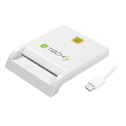 Techly Compact Smart Card Reader/Writer USB-C™ White