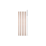 Strawganic 102102 reusable drinking straw Rose gold Stainless steel 5 pc(s)