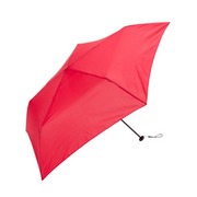 Because BE-02810 Red Polyester Compact Rain umbrella