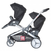 Red Castle Evolutwin Tandem stroller 2 seat(s) Black