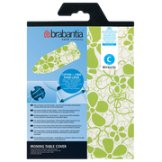 Brabantia 124x45 Beschuimd 2mm Ironing board top cover White, Green
