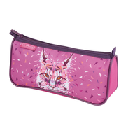 Herlitz Wild Animals Lynx Soft pencil case Polyester Pink