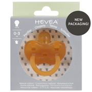 HEVEA 4004 baby pacifier Classic baby pacifier Round Rubber Beige