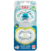 bibi Day & Night Boy Classic baby pacifier Orthodontic Silicone Blue, Green, White