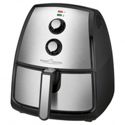 Clatronic PC-FR 1115 H Single 3.5 L Stand-alone 1500 W Hot air fryer Black, Stainless steel
