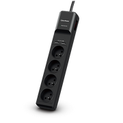 CyberPower Tracer III P0420SUD0-FR surge protector Black 4 AC outlet(s) 200 - 250 V 1.8 m