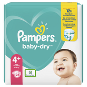 Pampers Baby-Dry Size 4+, 25Nappies, Up To 12h Protection, 10-15kg