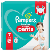 Pampers Baby-Dry Pants Size 7, 30 Nappies, 17kg+