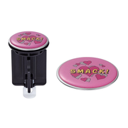 Diaqua Funny drain stopper Pop-up drain stopper Black, Pink Plastic, Steel