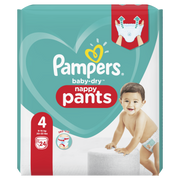 Pampers Baby-Dry Pants Size 4, 24 Nappies, 9kg-15kg