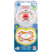 bibi Day & Night Papa Classic baby pacifier Orthodontic Silicone Red, White