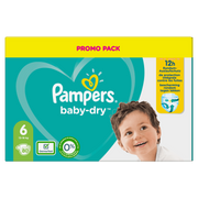 Pampers Baby-Dry Size 6, 80 Nappies, Up To 12h Protection, 13-18kg