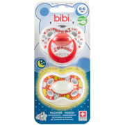 bibi Day & Night Mama Classic baby pacifier Orthodontic Silicone Red, White