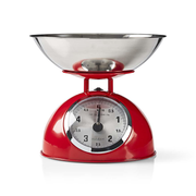 Nedis KASC110RD kitchen scale Red, Stainless steel Countertop Mechanical kitchen scale