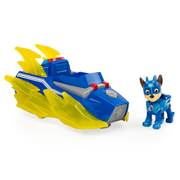 PAW Patrol , Mighty Pups Charged Up Chase's Deluxe Vehicle with Lights and Sounds