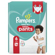 Pampers Baby-Dry Pants Size 6, 20 Nappies, 15kg+