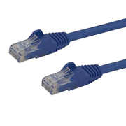 StarTech.com 1.5m CAT6 Ethernet Cable - Blue CAT 6 Gigabit Ethernet Wire -650MHz 100W PoE RJ45 UTP Network/Patch Cord Snagless w/Strain Relief Fluke Tested/Wiring is UL Certified/TIA