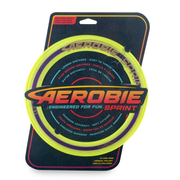 Aerobie Sprint Ring Outdoor Flying Disc - 10 Inches - Yellow