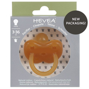HEVEA 4005 baby pacifier Classic baby pacifier Round Rubber Beige