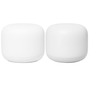 Google Nest Wifi, Router and Point 2-pack wireless router Gigabit Ethernet Dual-band (2.4 GHz / 5 GHz) White
