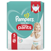 Pampers Baby-Dry Pants Size 5, 22 Nappies, 12kg-17kg