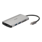 D-Link DUB-M810 notebook dock/port replicator Wired Thunderbolt 3 Silver