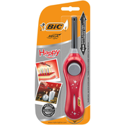 BIC Happy Flame kitchen lighter Piezo Red
