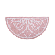 present time PT3556PI door mat Indoor/outdoor Half-round Pink, White