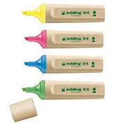 Edding EcoLine 24 marker 4 pc(s) Chisel/Fine tip Blue, Green, Pink, Yellow