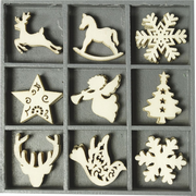 HEYDA 2118521027 Christmas ornament Specific christmas ornament Plywood Beige 45 pc(s)