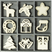 HEYDA 2118521022 Christmas ornament Specific christmas ornament Plywood Beige 45 pc(s)