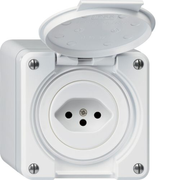 Hager WH36580300Q socket-outlet T13 White