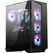 MSI MPG GUNGNIR 110R Mid Tower Gaming Computer Case Black, USB 3.2 Gen2 Type C, 4x 120mm ARGB Fan, Mystic Light Sync, 1 to 6 ARGB Control board, 2x Tempered Glass Panels, ATX, mATX, mini-ITX