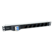 Equip 333312 power distribution unit (PDU) 6 AC outlet(s) 1U Black
