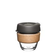 KeepCup Brew Cork Nitro 227 ml Silver, Transparent, Wood