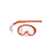 BECO-Beermann 99005-5 diving mask Polycarbonate Red, Transparent Child