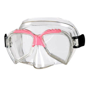 BECO-Beermann 99001-4 diving mask Polycarbonate Pink, Transparent Child