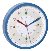TFA-Dostmann Tick & Tack Quartz wall clock Round Blue, White