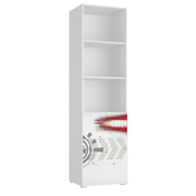 Tuckano Shelf-unit 55x201x55 SPACESHIP 04 white/white gloss/flame print