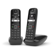 Gigaset AS690 Duo Analog/DECT telephone Black