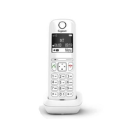 Gigaset AS690A Duo Analog/DECT telephone White