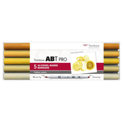 Tombow ABT Pro marker 5 pc(s) Chisel/Brush tip Yellow