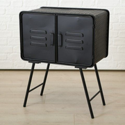Boltze Style 1 drawer(s) Black Nightstand