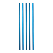 Strawganic 1002 reusable drinking straw Blue Stainless steel 50 pc(s)