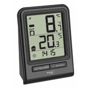 TFA-Dostmann PRISMA Electronic environment thermometer Indoor/outdoor Black