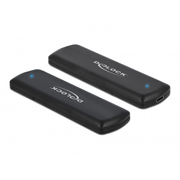 DeLOCK External USB Type-C Combo Enclosure for M.2 NVMe PCIe or SATA SSD