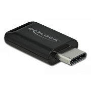 Delock USB 2.0 Bluetooth 4.0 Adapter USB Type-C, USB, A2DP, 10 m, Schwarz, Windows 10,Windows 8.1, 14,5 mm