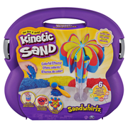 Kinetic Sand , Sandwhirlz Playset with 3 Colors of (2lbs) and Over 10 Tools, for Kids Aged 3 and up