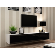 Cama TV Stand VIGO '180' 30/180/40 white/black gloss